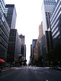 Normally busy Manhattan deserted during hurricane Stock Image