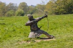 Norman Archer Sculpture à l'abbaye de bataille photos stock