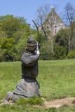 Norman Archer Sculpture à l'abbaye de bataille images stock