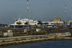 Norman atlantic ferry boat burned Stock Photography