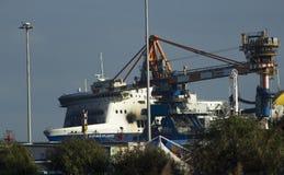 Norman atlantic fire brindisi castaways 30/12/2014 Royalty Free Stock Photos