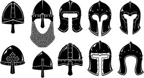 Norman and Barbute Medieval War Helm Royalty Free Stock Images