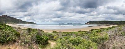 Norman Bay en parc national de promontoire de Wilsons Photo stock