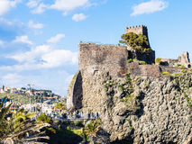 Norman castle in Aci Castello village, Sicily Stock Photography