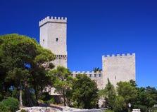 Norman castle called Torri del Balio, Erice Royalty Free Stock Images