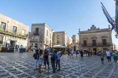 The Norman castle in Erice, Sicily, Italy Stock Images