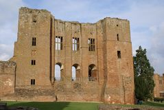 Norman castle in Kenilworth, Warwickshire, England Royalty Free Stock Image