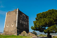 The norman castle in Paterno. Sicily Stock Images