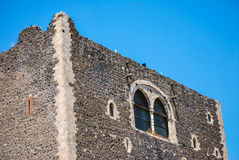 The norman castle in Paterno. Sicily Royalty Free Stock Photography