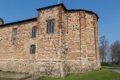 Norman Castle Round Keep van Colchester royalty-vrije stock foto