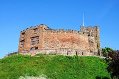 Norman castle, Tamworth. Royalty Free Stock Photos