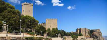 Norman castle and Venere castle, Erice Royalty Free Stock Image