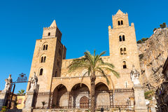 The norman cathedral of Cefalu Stock Image
