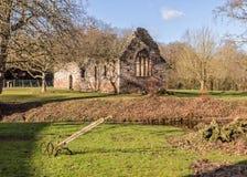 Norman Chapel, Brockhampton-Landsitz, Herefordshire, England Lizenzfreie Stockbilder