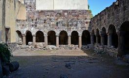 Norman cloister - Lipari Stock Image