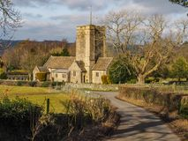 Norman English Country Church royaltyfria bilder