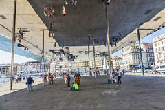 Norman Foster's pavilion   in Marseille Royalty Free Stock Photography