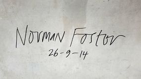 Norman Fosters häfte i den Bilbao gångtunnelen Royaltyfri Foto
