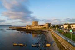 Norman kasteel in Carrickfergus dichtbij Belfast Royalty-vrije Stock Foto