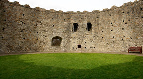 The Norman keep, Cardiff castle. Wales. The Norman keep from inside, in Cardiff castle. Wales. UK Royalty Free Stock Photos