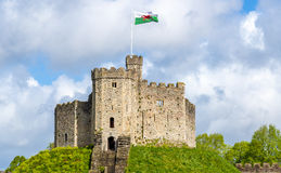 Norman Keep of Cardiff Castle Stock Photos