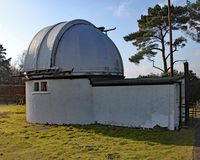 Norman Lockyer Observatory nahe Sidmouth in Devon Lockyer war ein Amateurastronom und ist das Teil, das die Entdeckung gutgeschri stockfotos