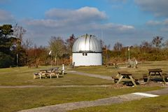 The Norman Lockyer Observatory near Sidmouth in Devon. Lockyer was an amateur astronomer and is part credited with the discovery. Of Helium on the sun stock photo