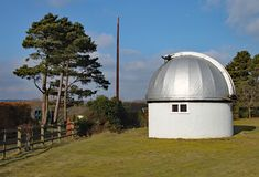 The Norman Lockyer Observatory near Sidmouth in Devon. Lockyer was an amateur astronomer and is part credited with the discovery. Of Helium on the sun royalty free stock image