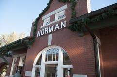 Norman Oklahoma train station Stock Photos