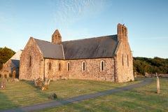Norman parish church at St. Brides Stock Image