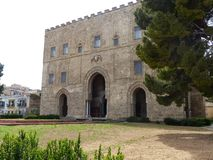 Norman style Zisa Castle in Palermo in Sicily, Italy. stock photography