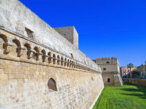 The Norman-Swabian Castle of Bari. Apulia. Stock Images