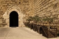 Norman Swabian Castle bari Apulia of Puglia Italië stock afbeelding