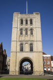 The Norman Tower in Bury St. Edmunds. A view of the historic Norman Tower in Bury St. Edmunds, Suffolk Royalty Free Stock Image
