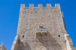 Norman tower. Pietramontecorvino. Puglia. Italy. Royalty Free Stock Images