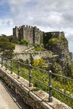 Norman Venus-kasteel in Erice, Sicilië Royalty-vrije Stock Foto