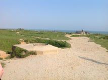 Normandía - playa del día D Imagenes de archivo