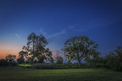 Normand night countryside Stock Photography