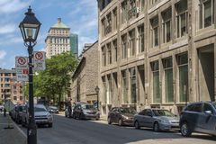 Normand street Old Montreal Royalty Free Stock Photography