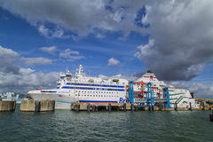 Normandia-Schiff stockfoto