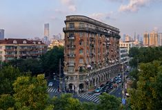 Normandie公寓,上海 免版税图库摄影
