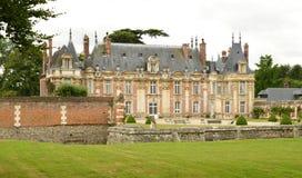 Normandie, το γραφικό κάστρο Miromesnil σε Tourville sur Στοκ εικόνα με δικαίωμα ελεύθερης χρήσης