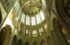 Normandie abbotskloster av Mont Saint Michel Royaltyfria Foton