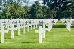 Normandie-amerikanischer Kirchhof und Denkmal stockfotos