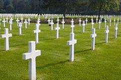 Normandie amerikansk kyrkogård och minnesmärke, Omaha Beach fotografering för bildbyråer