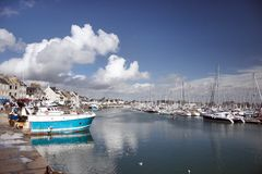 Normandie-Barfleur. French-The harbour of Barfleur Royalty Free Stock Image