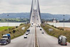 Normandie bro, Frankrike Fotografering för Bildbyråer