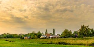 Normandie bygdlantgård arkivfoto