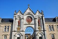 Normandie, de abdij van La Trappe in Soligny-La Trappe Stock Afbeeldingen
