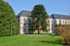 Normandie, de abdij van La Trappe in Soligny-La Trappe Stock Foto's